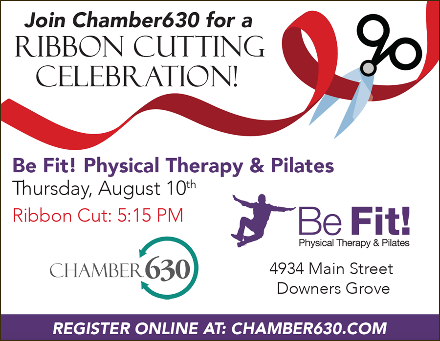 ribbon cutting, be fit, back pain, sciatica, injury rehab