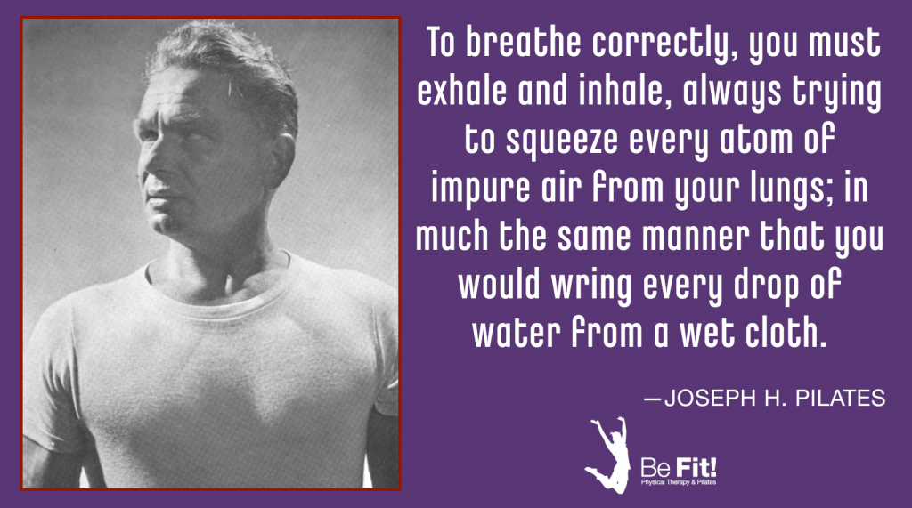 pilates philosophy on breathing